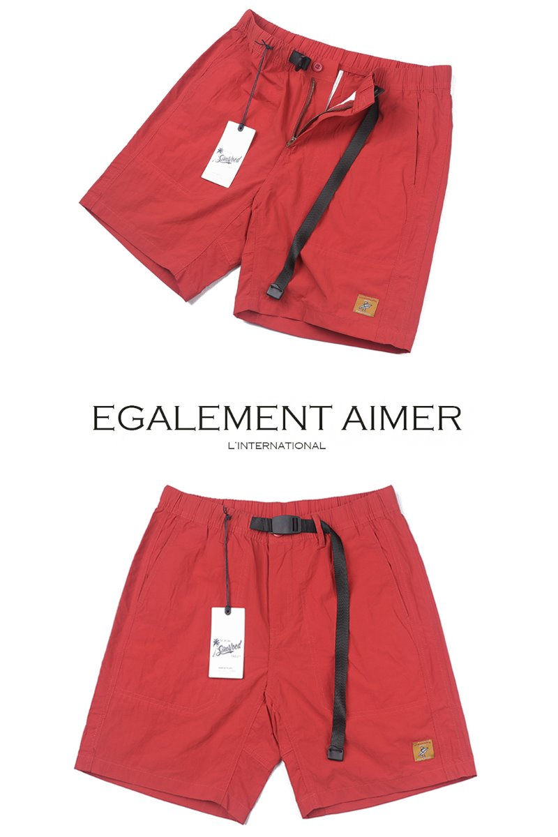 SUFFER HALF PANTS-RED
