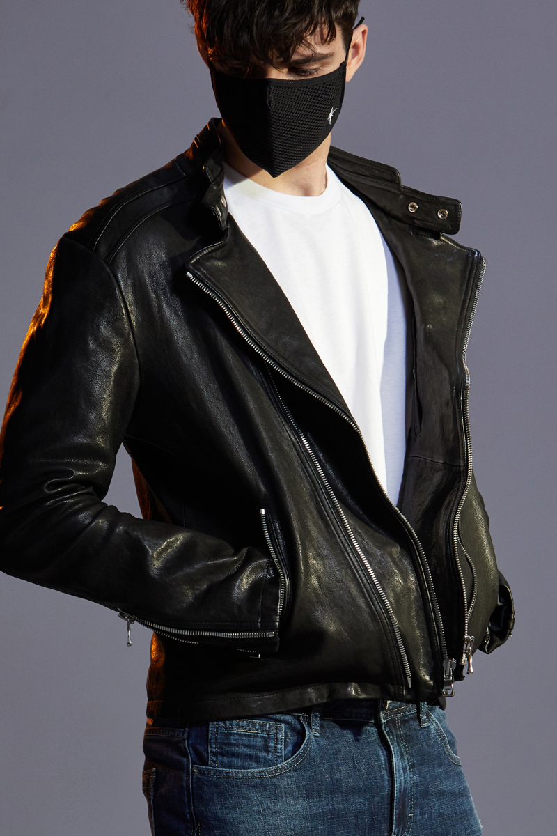ACQUART LEATHER JACKET-BLACK