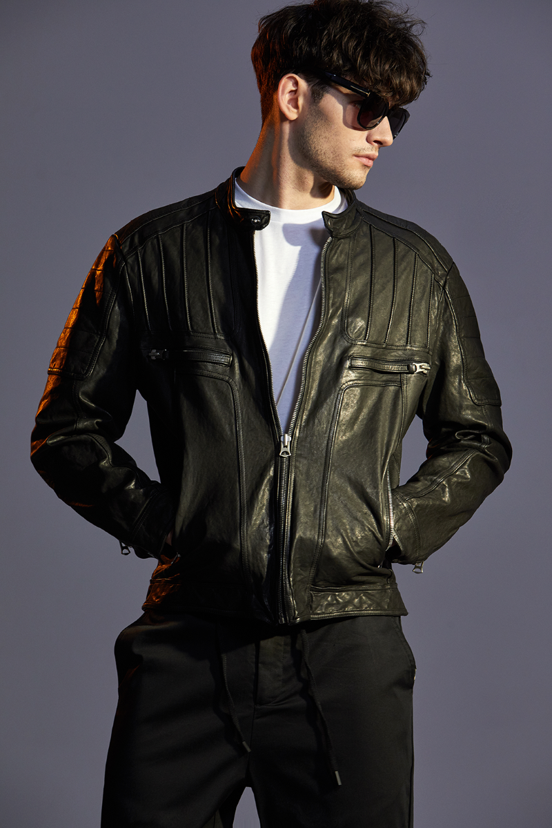 ALMANEY LEATHER JACKET-BLACK