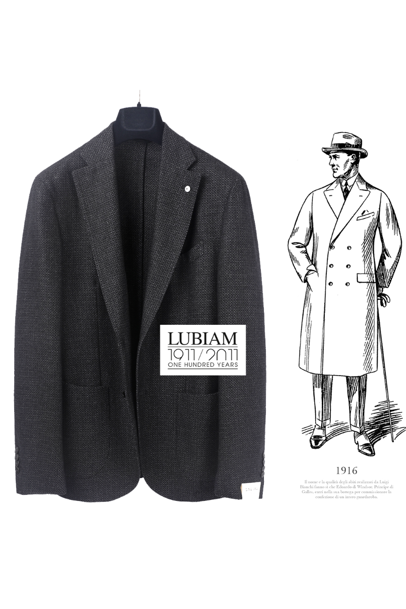 LUBIAM Bird Eye Jacket-Charcoal Grey