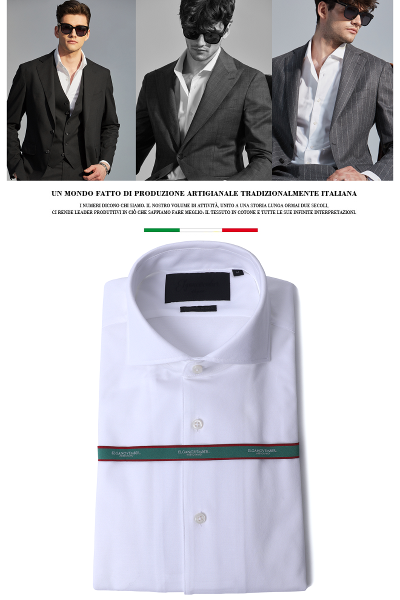 544 ITALIA ONE-PIECE COLLAR SHIRT-WHITE적극추천-1/2이상 판매완료