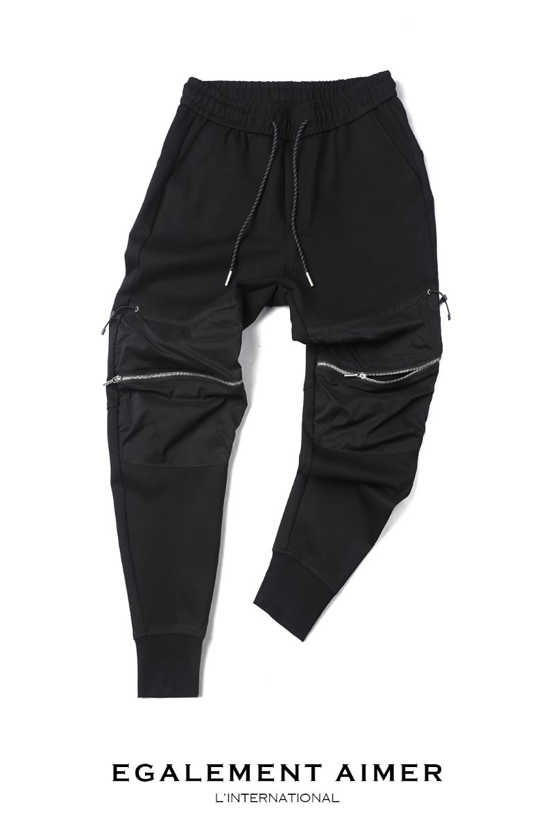 JOGGERS 19003 BANDING PANTS-BLACK