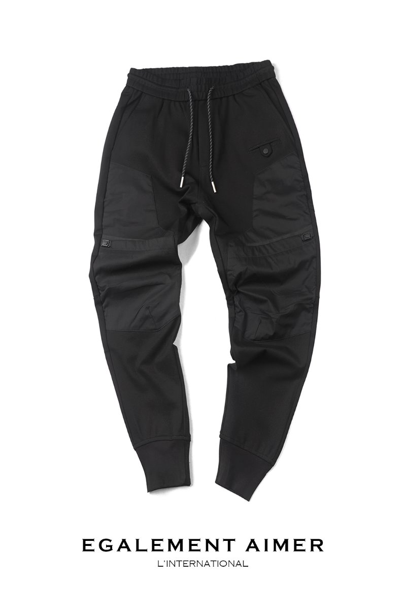 JOGGERS 16067 BANDIND PANTS-BLACK