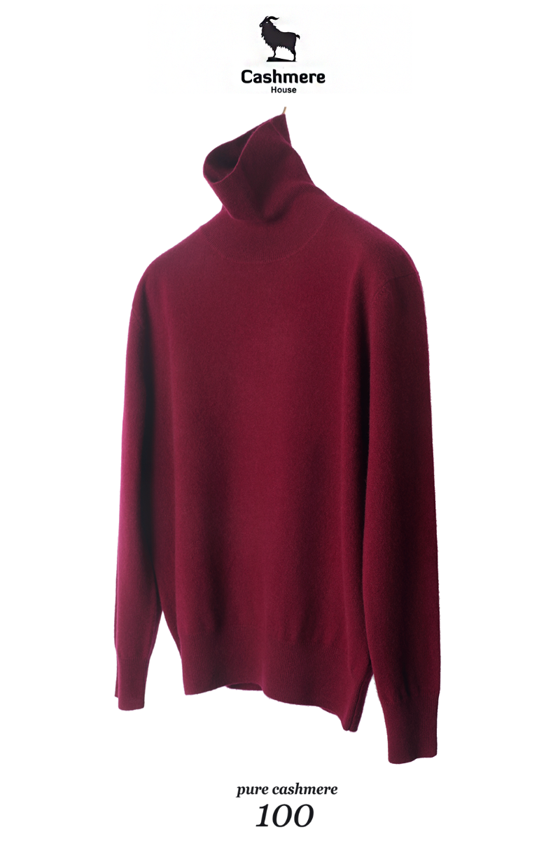 549 Pure Cashmere 100% Turtleneck-Gorgeous Burgundy한정수량-2/3이상 판매완료