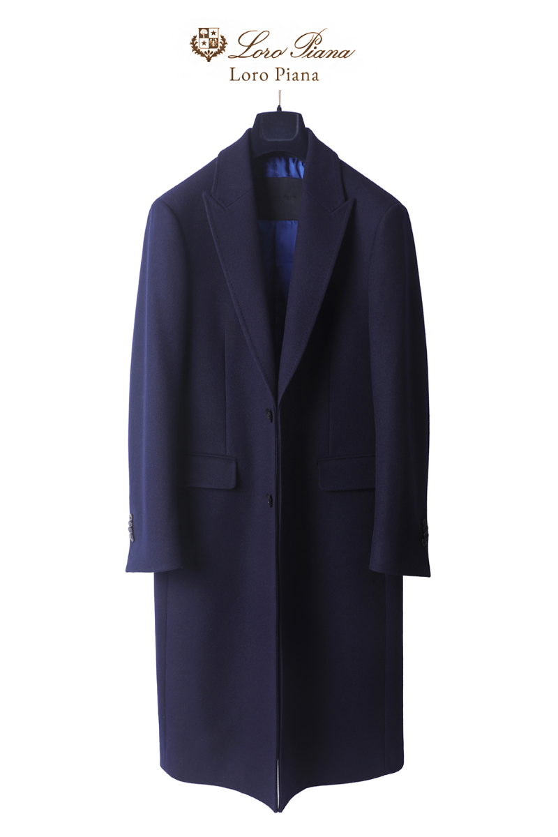 556 LOROPIANA SINGLE COAT-NAVYLIMITED EDITION-품절임박