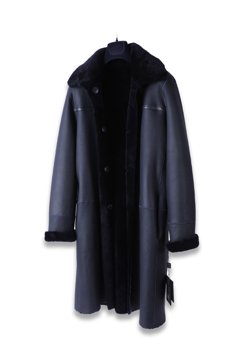 Merino Averon Nappa Mustang Coat-Soft Navy양면 무스탕-소량 한정모델
