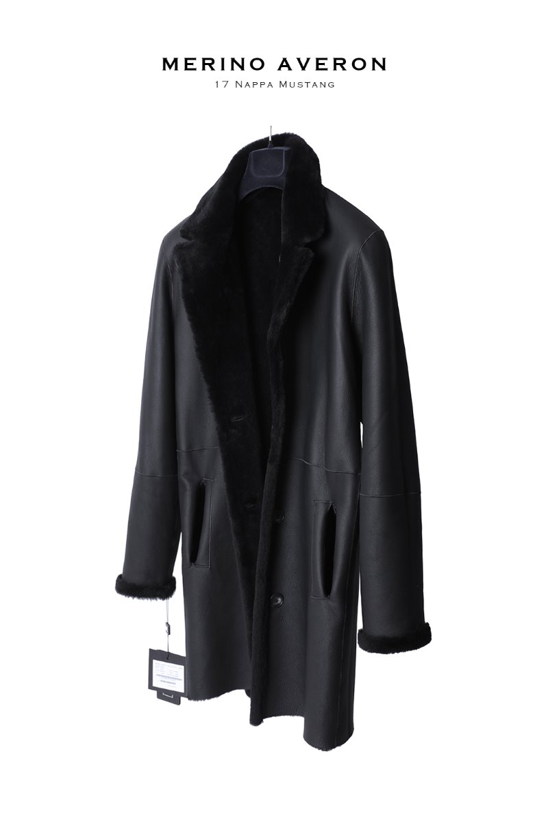 Merino Averon 17 Nappa Mustang Coat-Soft Black양면 무스탕-소량 한정모델