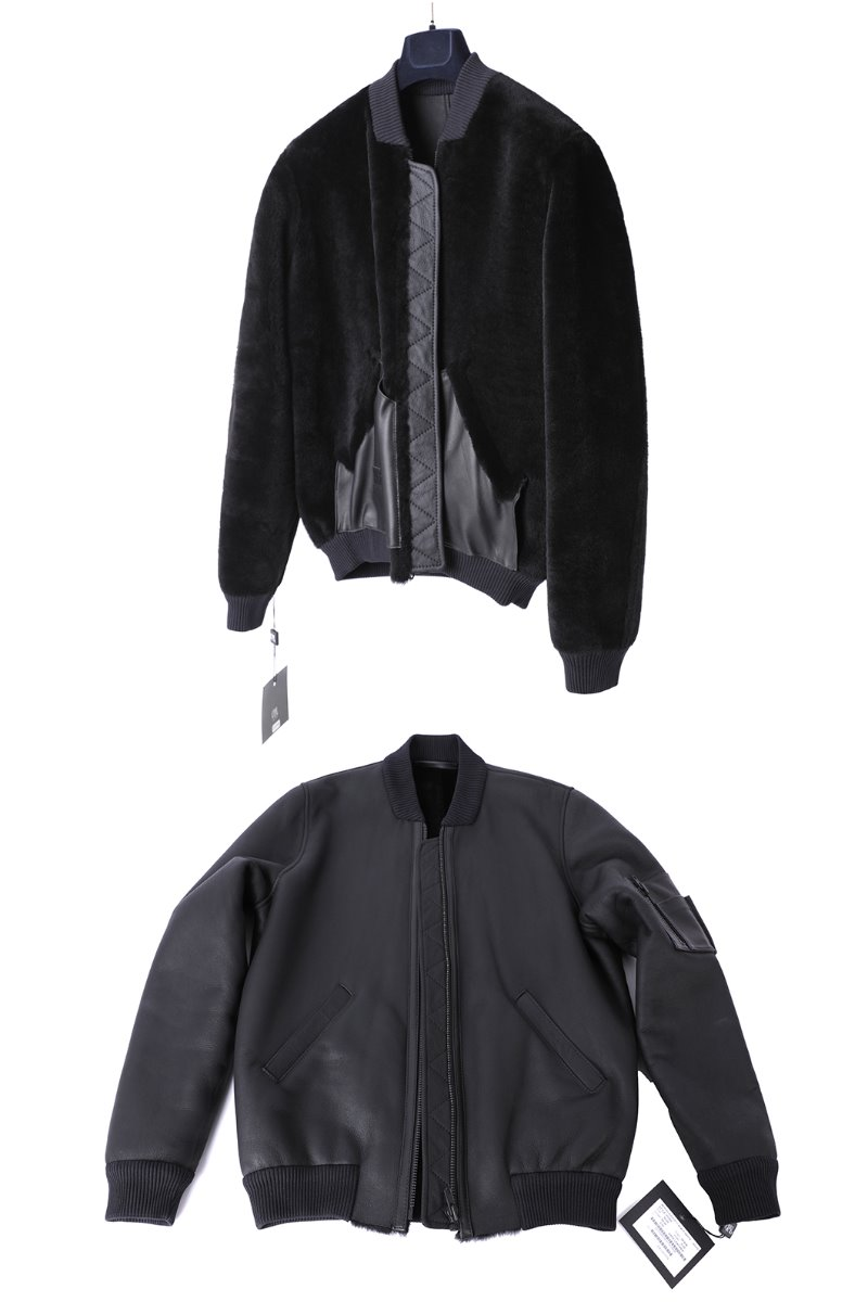 Merino Averon Nappa Mustang Blouson-Light Black한정수량-품절임박