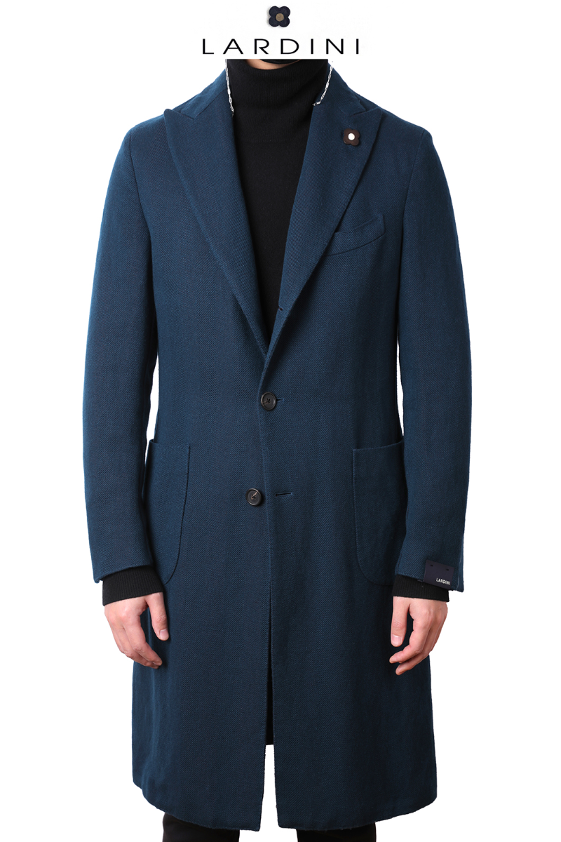 LARDINI Cashmere Long Coat-Blue Green소량 한정모델