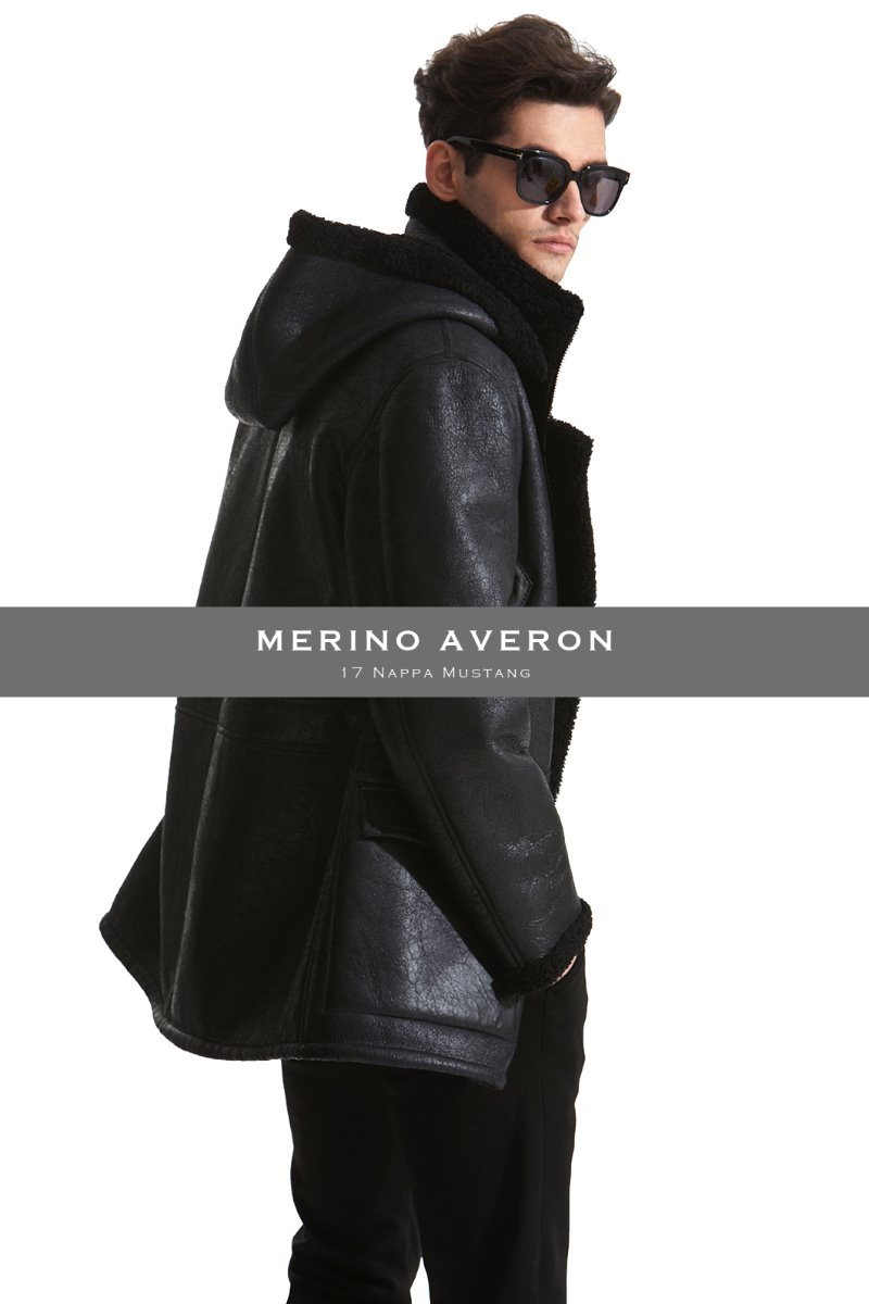 Merino Averon 17 Antique Curly Style Mustang-Black