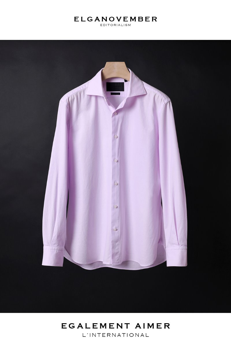 505 ITALIA WIDE COLLAR SHIRT-MOOD PINK마지막수량 할인