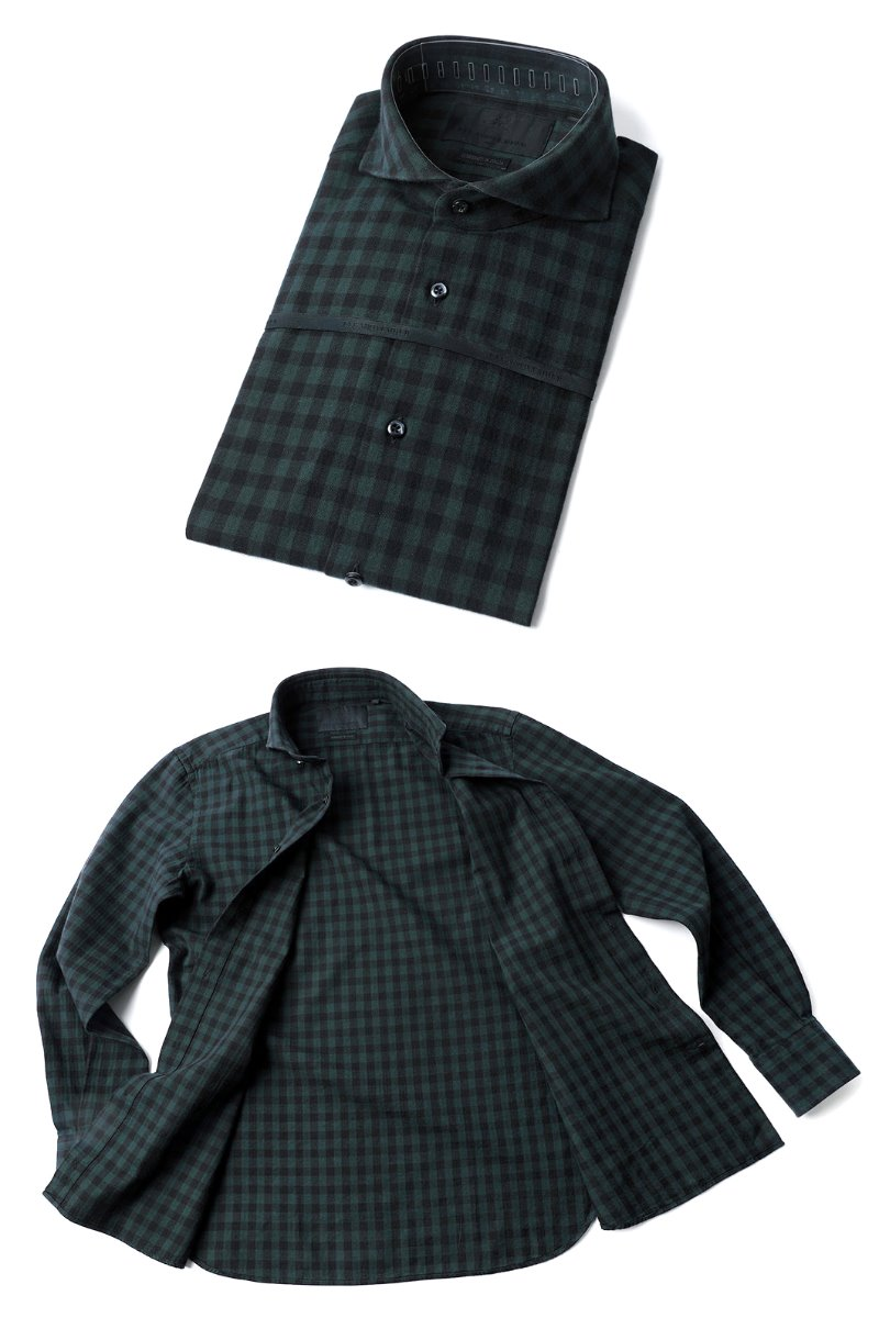 464 ITALIA A&C CHECK SHIRT-DARK GREEN