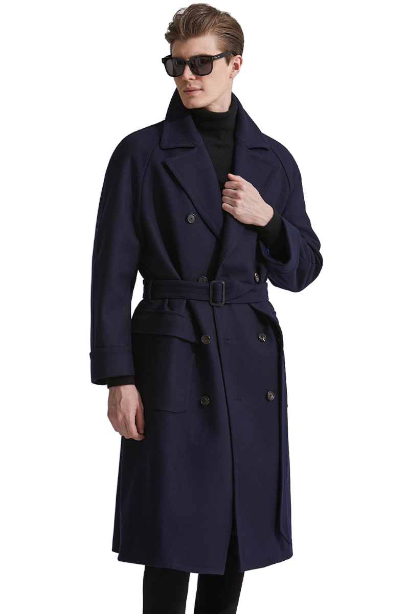 558 LOROPIANA TRENCH COAT-NAVY