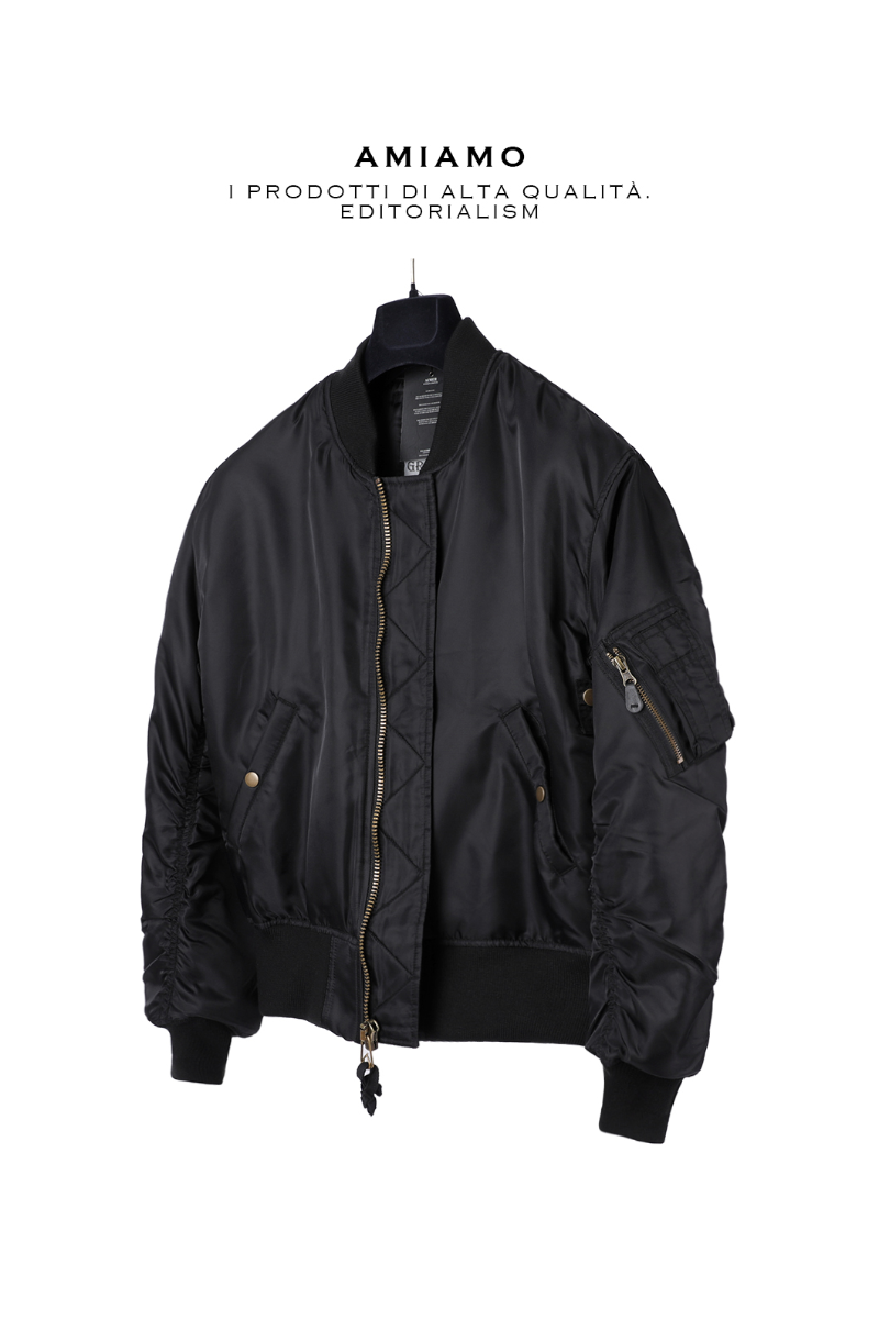 MA-1 Series All Black Bomber-Black