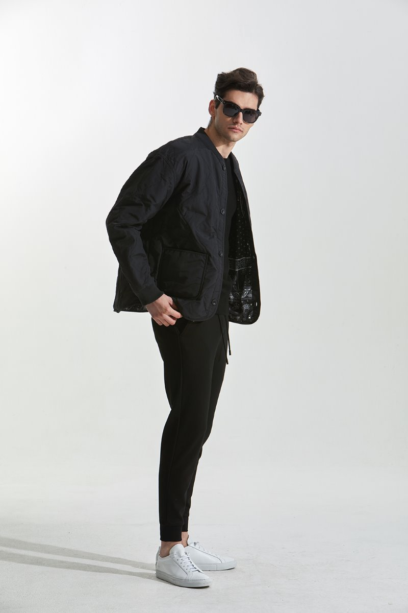 Epoch quilting jumper-Black