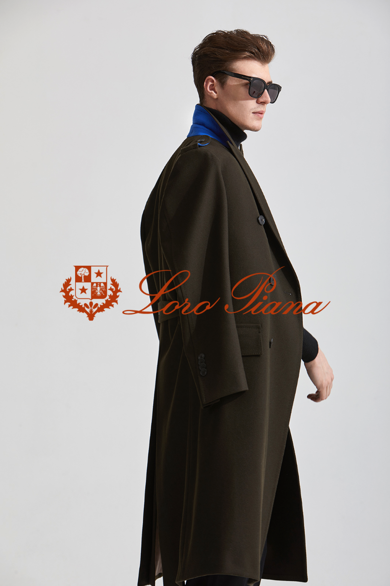 557 LOROPIANA DOUBLE COAT-KHAKI BROWN