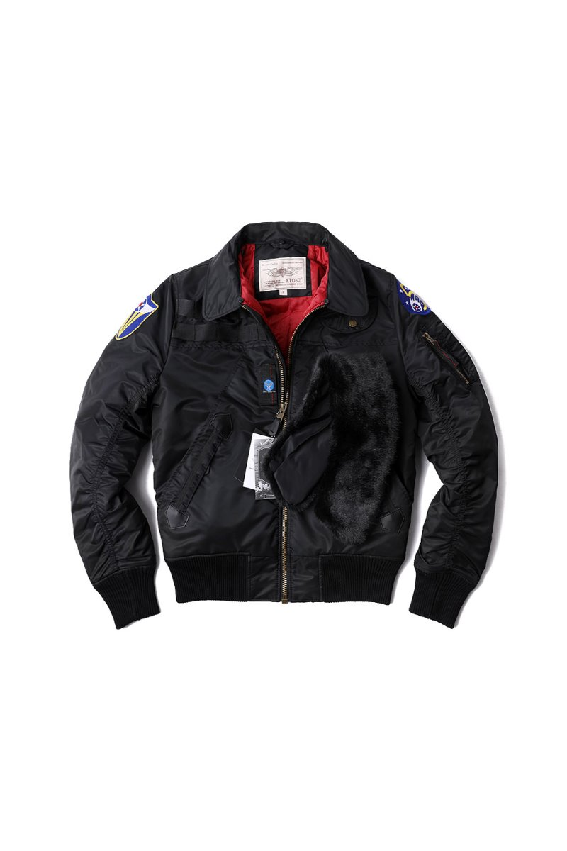 XTONZ XJ5 FLIGHT JACKET-BLACK소량 재입고