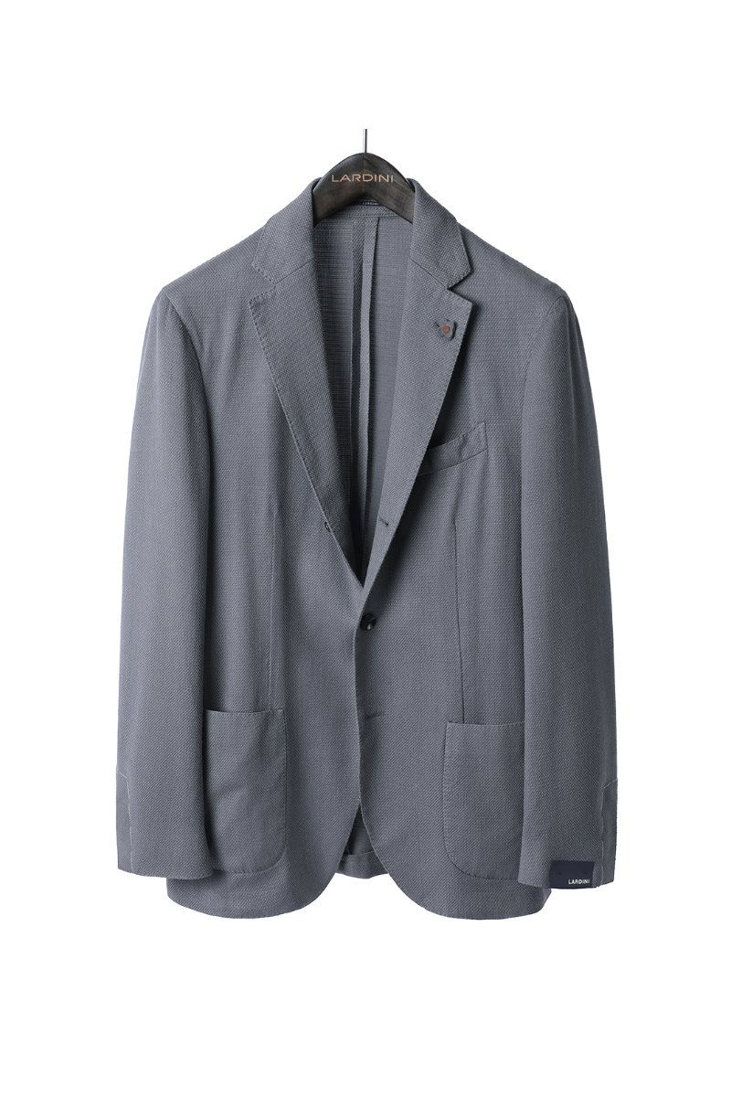 LARDINI Mulligan Filo Jacket-Light Grey