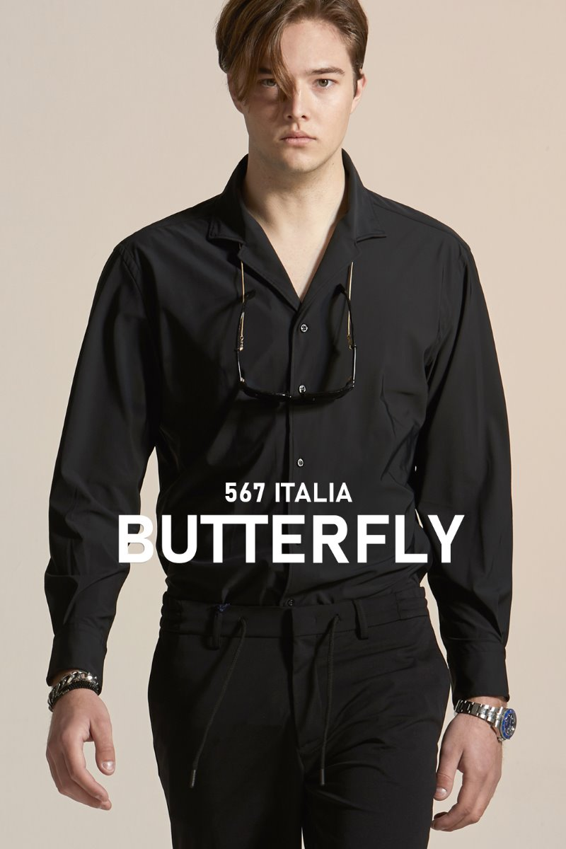 567 ITALIA Butterfly Collar NY Shirt-Black적극추천-1/3 이상 판매완료!