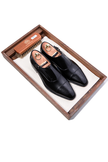 Take163 artisan classic single monk shoes/black-배우 이민호 협찬