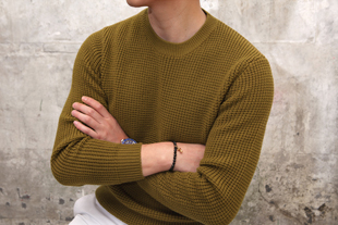 7G waffle round knit/4color[Micron18.0 wool 100%-special order project]-한정수량!-적극추천!-스페셜오더!