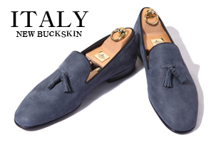 Take364 artisan slipper new buckskin  shoes/light navy[italy calf-bologna.ver]-적극추천