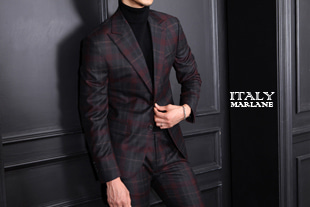 Take390 Italy Officina by Marlane tartan check suit/wine stripe[Italy series.-limited edition]-적극추천!-소량 한정모델!
