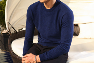 Brigham cashmere round knit/4color[slim fit-cashmere30%]-수입 한정 추천 제품!