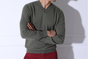 lounge V neck- knit/3color[free size]